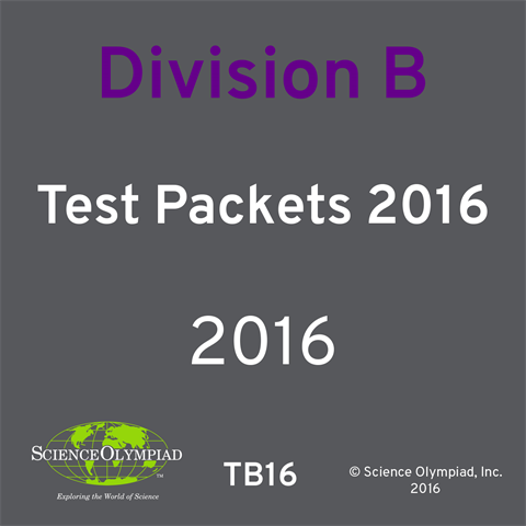 Test Packet 2016 - Division B